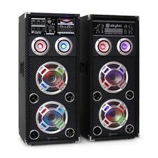 PA DJ KARAOKE ANLAGE AKTIV BOXEN PARTY LAUTSPRECHER PAAR USB SD MP3 PLAYER NEU
