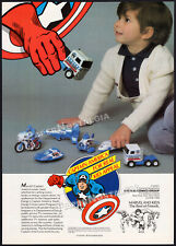 CAPTAIN AMERICA__Orig. 1981 Trade AD / toy promo__Buddy L__Super Heroes Vehicles