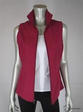 COLUMBIA S Cranberry Pink Polyester Vest Fleece Lining Sleeveless Coat Small EUC