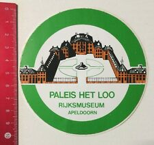 Aufkleber/Sticker: Paleis Het Loo - Rijksmuseum Apeldoorn (04061657)