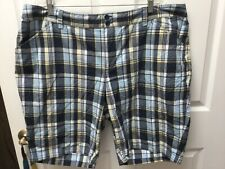 womens CJ BANKS  casual multi-color check stretch plus size shorts 24W