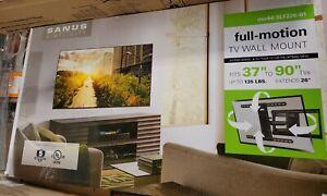 "SANUS Simplicity 37"" - 90"" Full-Motion TV Wall Mount Up 135 lbs SLF226-B1 New ✅"