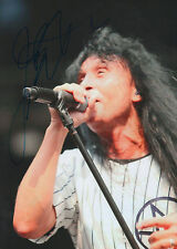 """Joey Belladonna """"Anthrax"""" signed 8x12 inch photo autograph"""