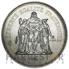 1974-1979 FRENCH 50 FRANCS HERCULES SILVER COIN - ASW .8682 AU/BU - RANDOM YEAR