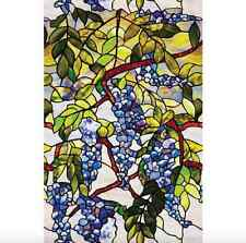 Stained Etched Home Window Film Decorative Privacy Glass Bathroom Wisteria Color