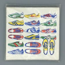 Vintage Paper Napkins Sneakers Running Tennis Shoes New Old Stock Illustration