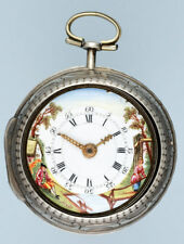 Silver Repousse Verge with Painted Dial