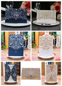 10PCS Laser Cut Wedding Party Invitation Card Wedding Birthday Engagement