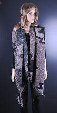 Neuf  -  Grande longue écharpe chaude  châle mode femmes filles   noir-gris-rose