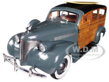 1939 CHEVROLET WOODY SURF WAGON GRAY SURF BOARD & REAL WOOD 1/18 BY SUNSTAR 6177