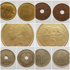 Monnaies Congo Belge Belgisch Congo Rwanda Burundi BERB colonies Belgique