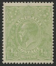 1/2d KGV Acsc 65(4)v DULL GREEN LMW *WHITE SPOT BEFORE 2 IN RVT 4R55* MNH.