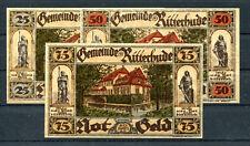 Ritterhude 3 Scheine Notgeld ..............................................z1205