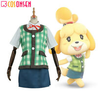 Game Animal Crossing Isabelle Cosplay Costume Full Set All Size