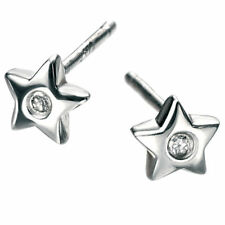 Butterfly Sterling Silver SI1 Fine Diamond Earrings
