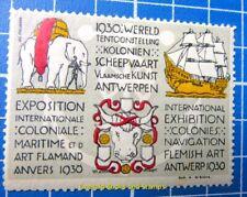 Cinderella/Poster Stamp - 1930 Belgium International Exhibition Antwerp 869