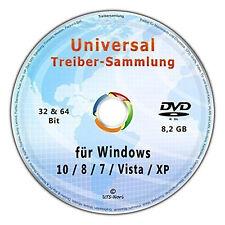 Universal Treiber-Sammlung CD/DVD für Windows 10-8-7-Vista-XP (32 & 64 Bit)