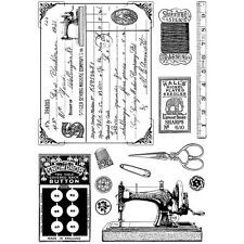 """Crafty Individuals Unmounted Rubber Stamp 4.75""""X7"""" Pkg-Sewing Notions"""