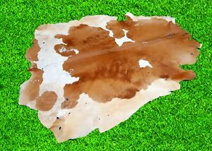 """New Cowhide Rugs Hair On COW HIDE Rugs Area Cow Skin Leather Rugs (69"""" x 66"""")"""
