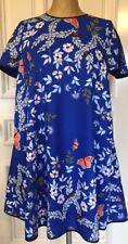 Ted Baker London Ellodie Sleeve Dress Navy  Size 2 USA 6 Butterfly Flower Design