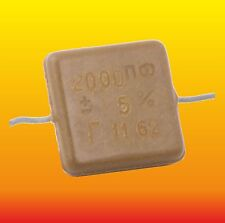 2000 pF 500 V 5 % LOT OF 4 RUSSIAN MILITARY SILVER-MICA CAPACITOR KSO-5G КСО-5Г
