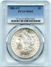 1882-CC  Morgan Silver Dollar PCGS MS-65, Wonderful Bright Luster, Blast White!