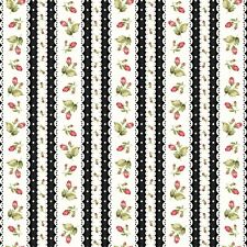 Fabric Flowers Rosebuds Ditsy Border on Black Flannel by the 1/4 yard