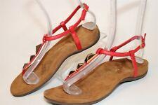 Vionic Nala Leather Buckle Flat Thongs Womens Size 7 38 Comfort Shoes TVW4870
