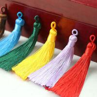 2X 8cm Ice Silk Tassel Trim Craft Earrings Jewelry Making DIY Accessory Decor