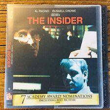The Insider (Blu-ray, 2013) Michael Mann Pacino Crowe NO CASE