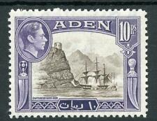Aden 1939-48 10r sepia and violet SG27 MNH