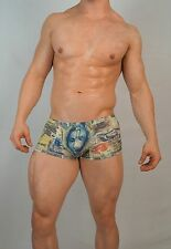 MEN'S CURRENCY PRINT BOXER BRIEF SMALL $32.00