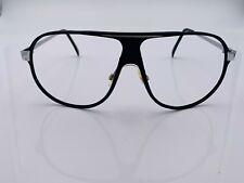 Vintage Black Silver Oversized Aviator Sunglasses Frames