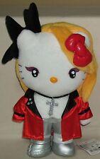 "Hello Kitty X-Japan Yoshiki Yoshikitty Red 12.2"" 31cm Plush Doll Sanrio 2009 NWT"