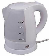 Quest 1.7ltr WHITE caravan camping cordless low wattage 240v mains kettle