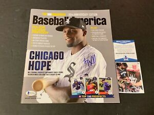 Luis Robert White Sox Autographed Signed Baseball America Beckett Witness COA