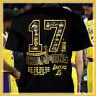 2020 Lakers NBA Championship LA 17 Times Finals Lebron James Black T-shirt S-5XL