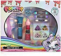 Poopsie Unicorn Surprise Girls Hair & Make Up Set, Hair Accessories Face Glitter