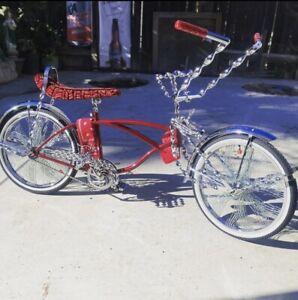 "20/"" Lowrider Bike with 72 spokes Bent Fork FM:Green Black Blue red chrome purple"