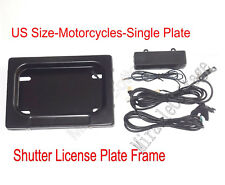 """USA Motorcycles Bike Hidden Remote Control License Plate Frame, Suit for 7""""x4"""" !"""