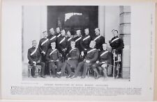 1896 BOER WAR ERA OFFICER INSTRUCTORS OF ROYAL MARINE ARTILLERY PORTSMOUTH