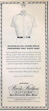 1962 Brooks Brothers PRINT AD Men Fashion Shirt great men's decor