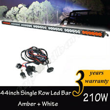 44''Inch 210W Amber/White Dual colors Led Work Light Bar Combo Offroad 4x4 Truck