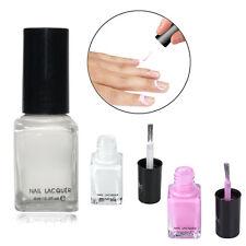 DIY Weiß/Pink Nagellack Schutz Gel Nail Art Polisch Easy Peel Off  Öl Gel