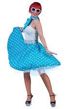 Bristol Novelty Ac049g Rock N Roll Skirt Blue Size 10 - 14
