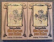 """Sven v. Hedin, 2 Bände, """" Im Herzen von Asien"""", Zweite Auflage, Leipzig, 1910"""