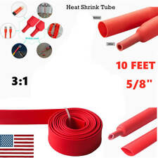 10ft 58 Red Heat Shrink Tubing Wire Cable Sleeve 31insulation Shrinkable Tube