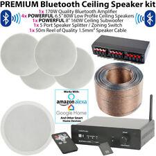 4x 80W Stéréo & 1 X 160W Plafond Caisson de Basses Haut Parleur Kit - Bluetooth