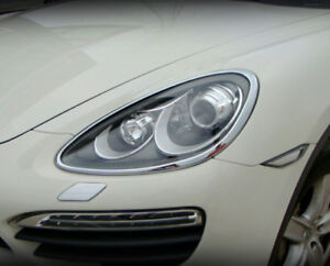 Porsche Cayenne 2011 2012 2013 2014 Headlight Chrome Trim Set (2 pcs)