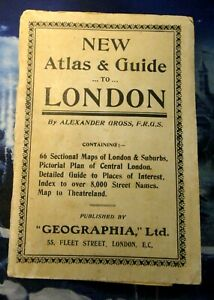 NEW ATLAS GUIDE TO LONDON BY ALEXANDER GROSS - PRIMI '900 CLUB & THEATER THEATRE